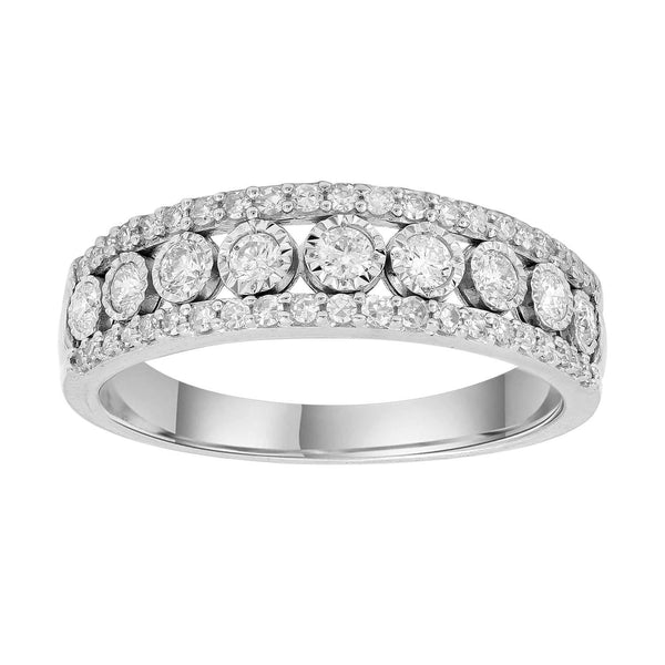 Ring with 0.5ct Diamonds in 9K White Gold