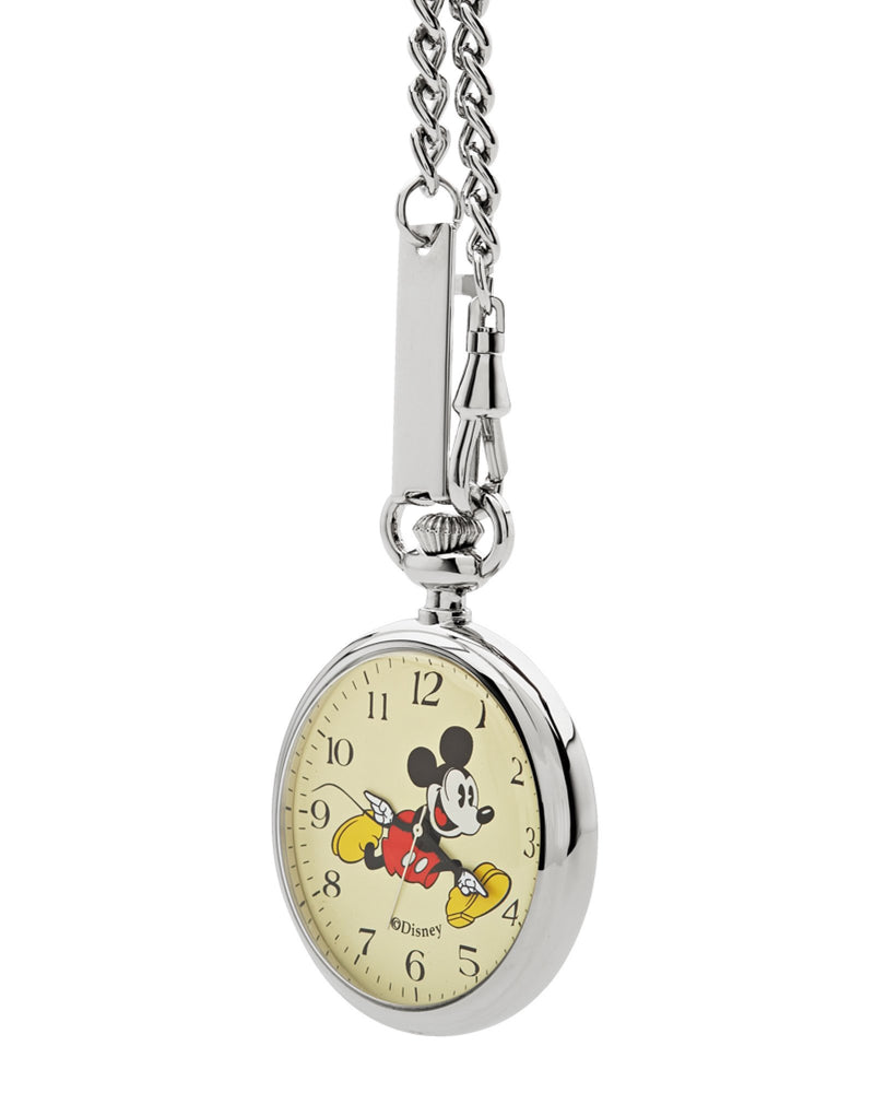 Disney Mickey Silver Pocket Watch