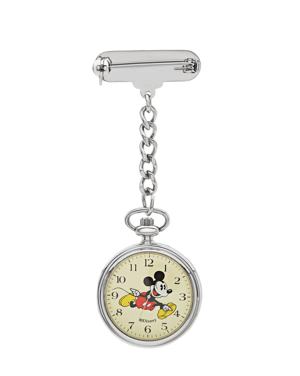 Disney Mickey Silver Nurse's Watch