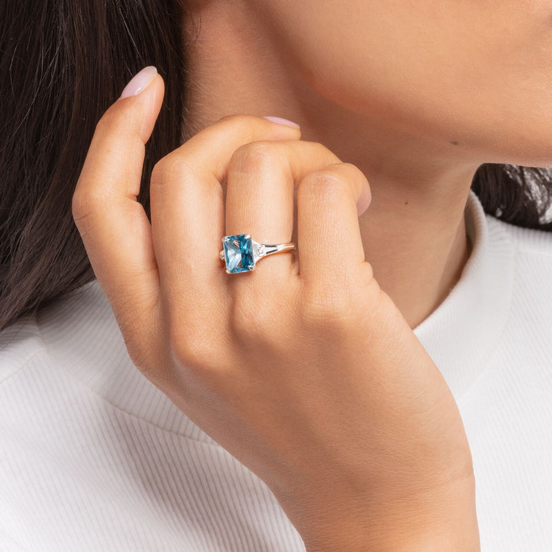 Thomas Sabo Ring Blue Stone