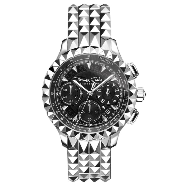 Thomas Sabo Men's Watch Rebel At Heart Chronograph Silver Black
