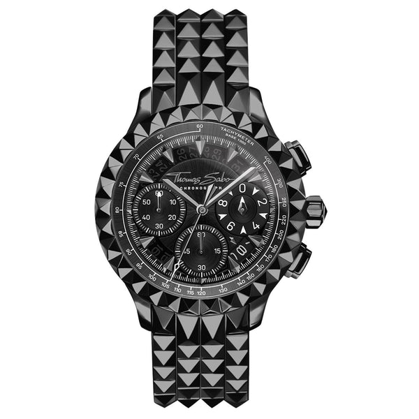 Thomas Sabo Men's Watch Rebel At Heart Chronograph Black