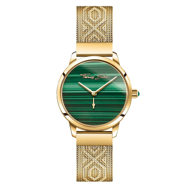 Thomas Sabo Women's Watch Garden Spirit Malachite Gold