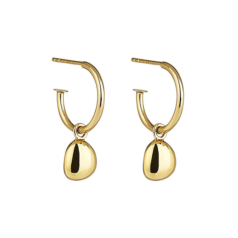 Najo Piedra Gold Small Hoop Earring