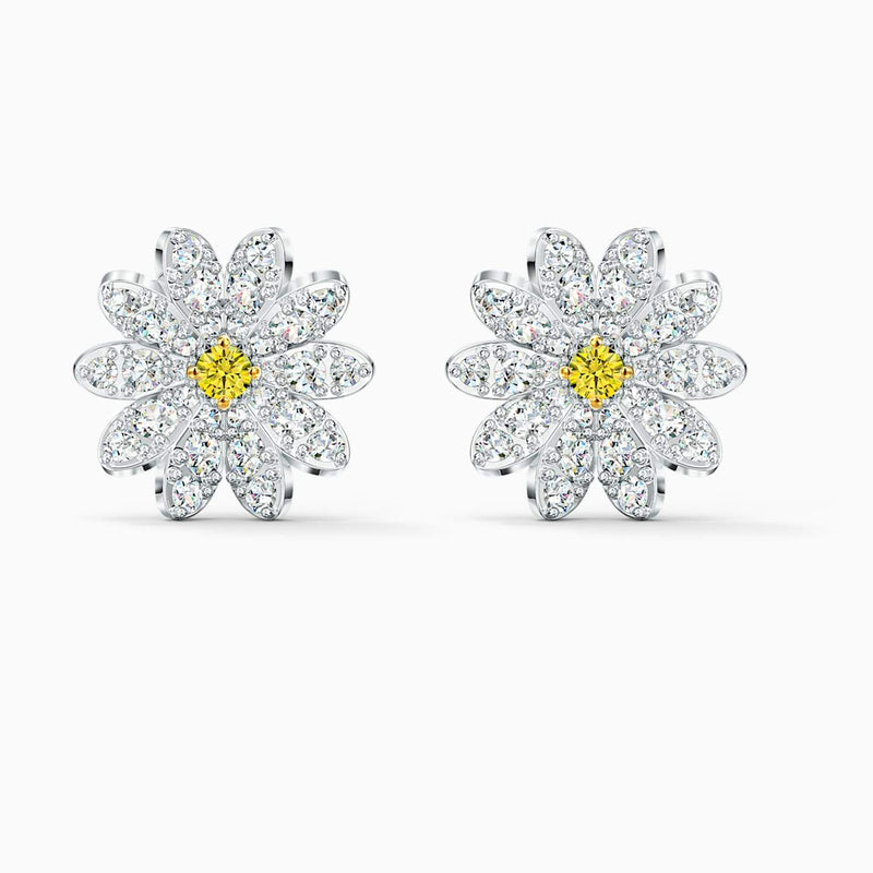 SWAROVSKI Eternal Flower Stud Pierced Earrings -  Yellow
