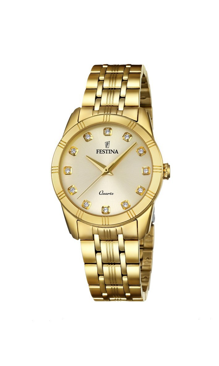 Festina Boyfriend Gold Watch