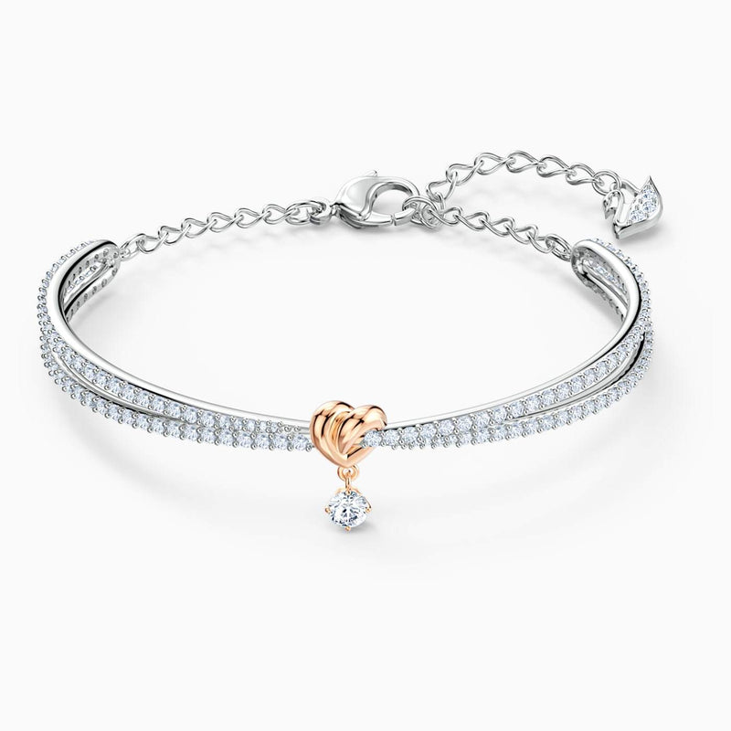 SWAROVSKI Lifelong Heart Bangle -  White