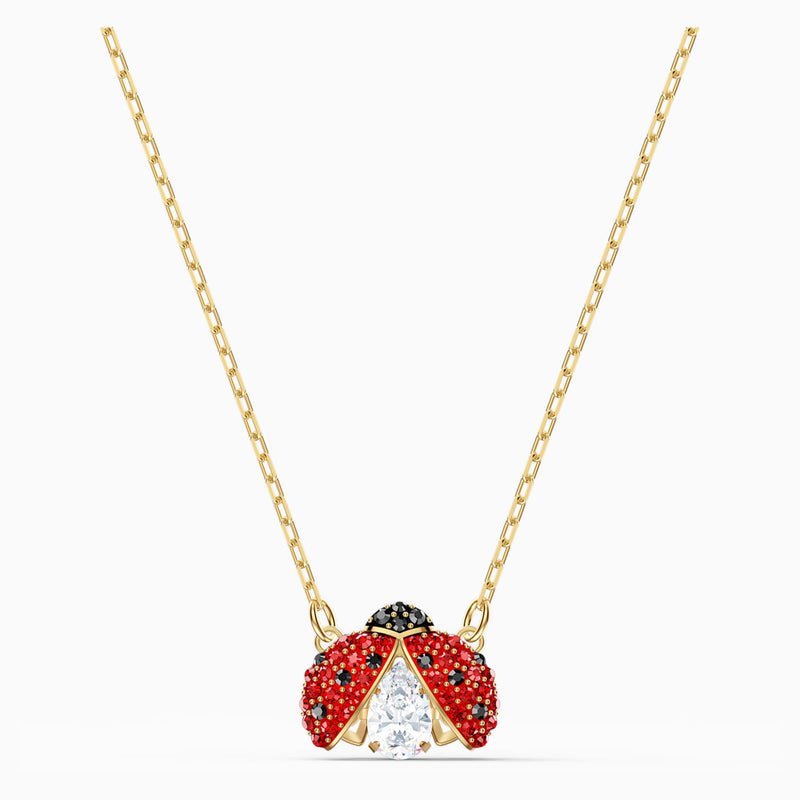 Swarovski Sparkling Dance Ladybug Necklace - Red