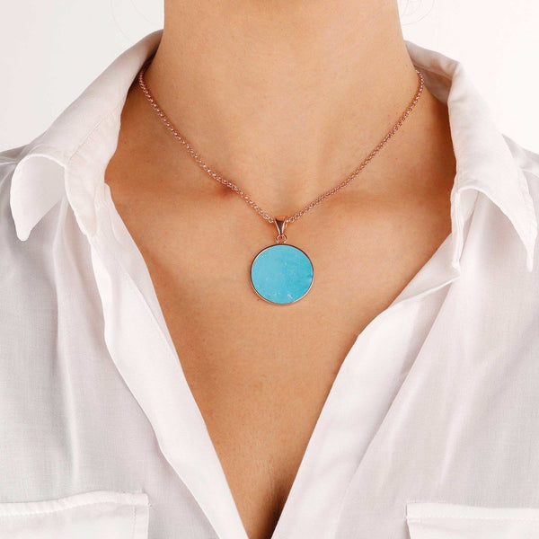 Bronzallure Magnesite  Disc Necklace