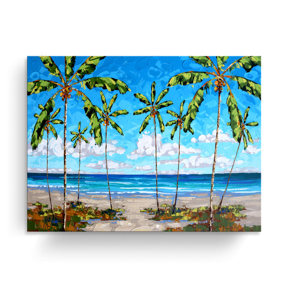 Bahama Relief 'Coastal Palms' Canvas Coastal Wall Art