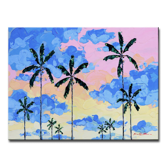 Bahama Relief 'Miami Sky' Canvas Coastal Wall Art