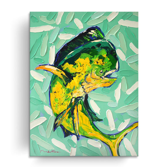 Bahama Relief 'Mahi Mahi' Canvas Coastal Wall Art