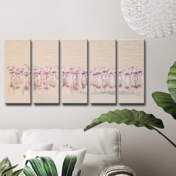 Ready2HangArt 'Marching Pinks' 5-Pc Canvas Wall Décor Set