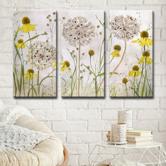 Ready2HangArt 'Alliums and Heleniums' 3-Pc Canvas Wall Décor Set