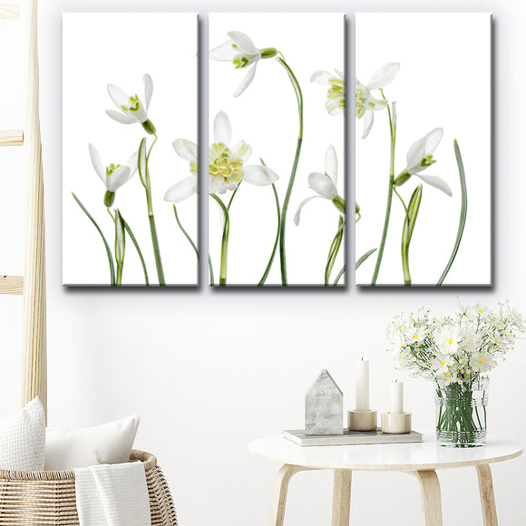 Ready2HangArt 'Spring Snowdrops' 3-Pc Canvas Wall Décor Set