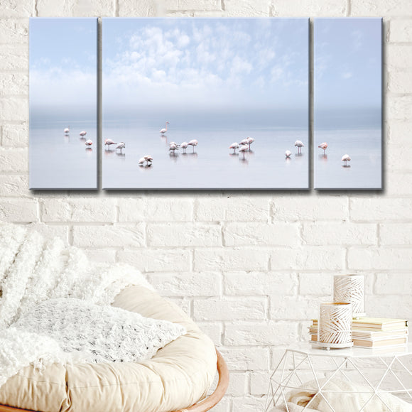 Ready2HangArt 'Flamingos I' 3-Pc Canvas Wall Décor Set