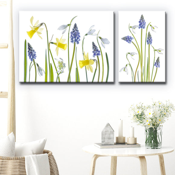 Ready2HangArt 'Muscari and Galanthus' 2-Pc Canvas Wall Décor Set