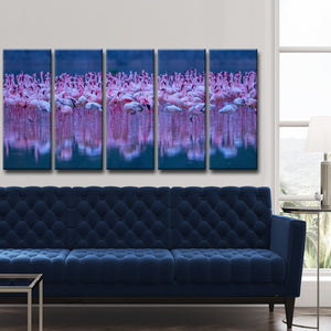 Ready2HangArt 'Flamingos' 5-Pc Canvas Wall Décor Set