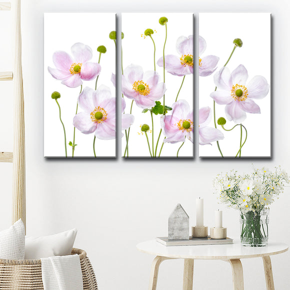 Ready2HangArt 'Japanese Anemones' 3-Pc Canvas Wall Décor Set