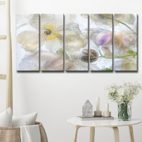 Ready2HangArt 'Anemone Frost' 5-Pc Canvas Wall Décor Set