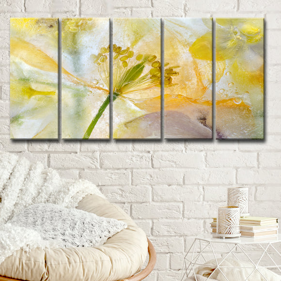 Ready2HangArt 'Papaver Ice' 5-Pc Canvas Wall Décor Set