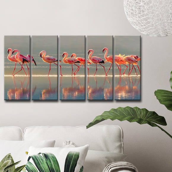 Ready2HangArt 'Flamingo' 5-Pc Canvas Wall Décor Set