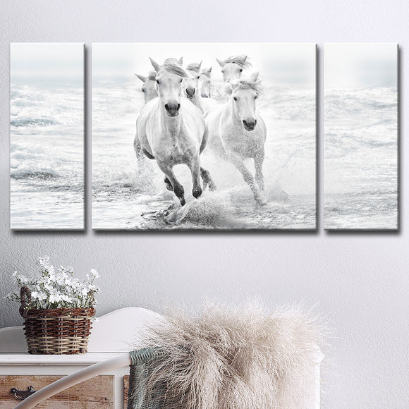 Ready2HangArt 'Running in the Sea' 3-Pc Canvas Wall Décor Set