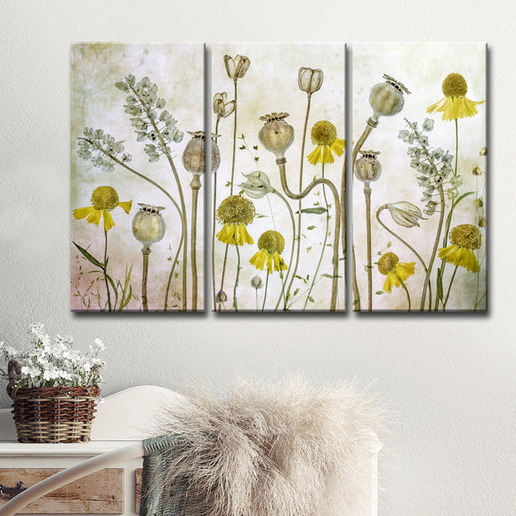 Ready2HangArt 'Poppies and Helenium' 3-Pc Canvas Wall Décor Set