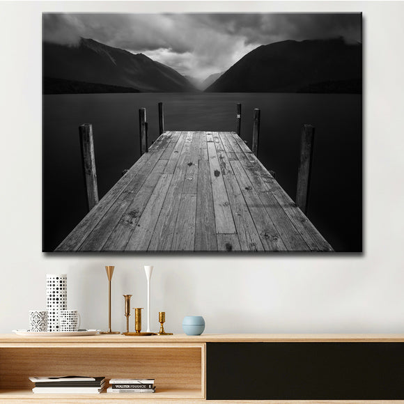 Ready2HangArt 'The Lake' Wrapped Canvas Wall Décor