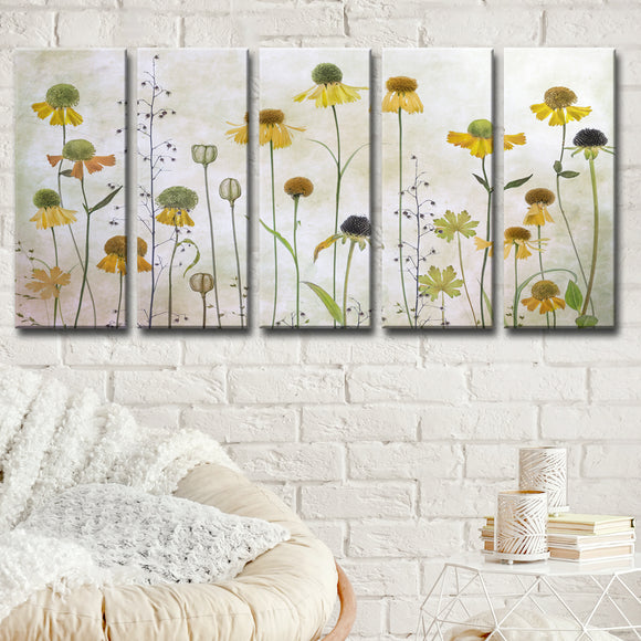 Ready2HangArt 'Helenium' 5-Pc Canvas Wall Décor Set