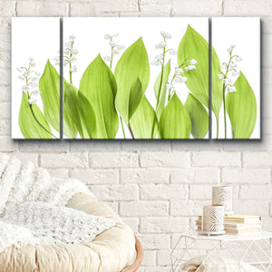 Ready2HangArt 'Lilly of the Valley' 3-Piece Canvas Wall Décor Set