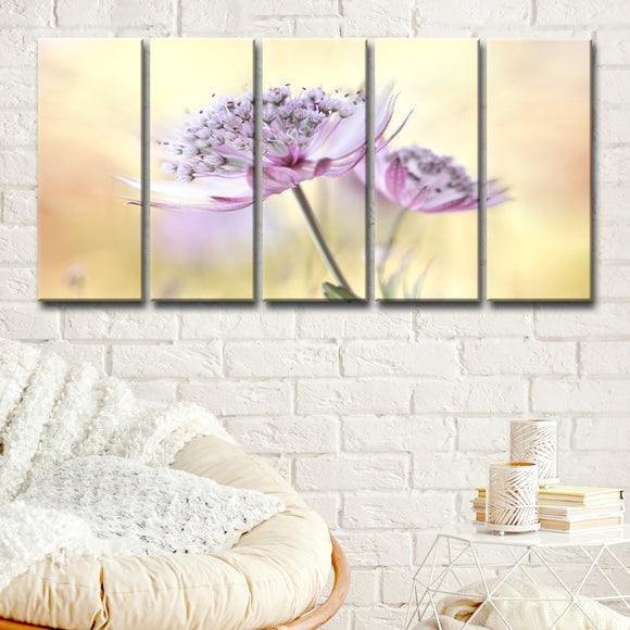 Ready2HangArt 'Pink Astrantia' 5-Pc Canvas Wall Décor Set