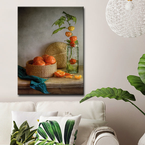Ready2HangArt 'Still Life with Clementines' Canvas Wall Décor