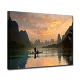 Ready2HangArt 'Golden Li River' Wrapped Canvas Wall Décor