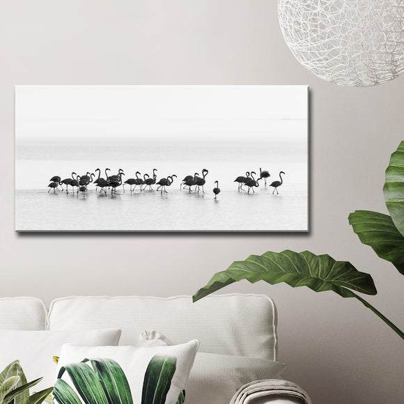 Ready2HangArt 'Flamingos' Canvas Wall Décor