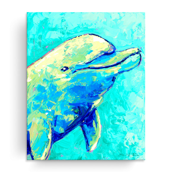 Bahama Relief 'Dolphin' Canvas Coastal Wall Art