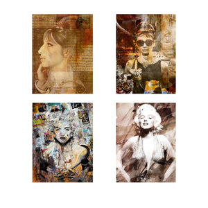 "Limited Edition 4-Pc ""Divas"" Canvas Art Set"