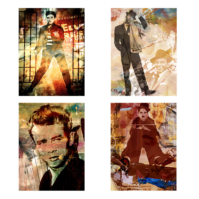 Limited Edition 'Legends' 4-PC Canvas Wall Art Set