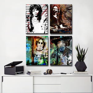 Limited Edition 'Rock Stars' 4-PC Canvas Wall Art Set