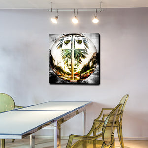 Play.Shop.Dine.Live' Canvas Wall Art