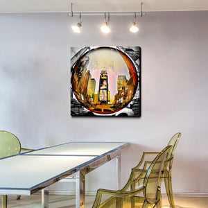 'Time Square Fish Eye' Canvas Wall Art