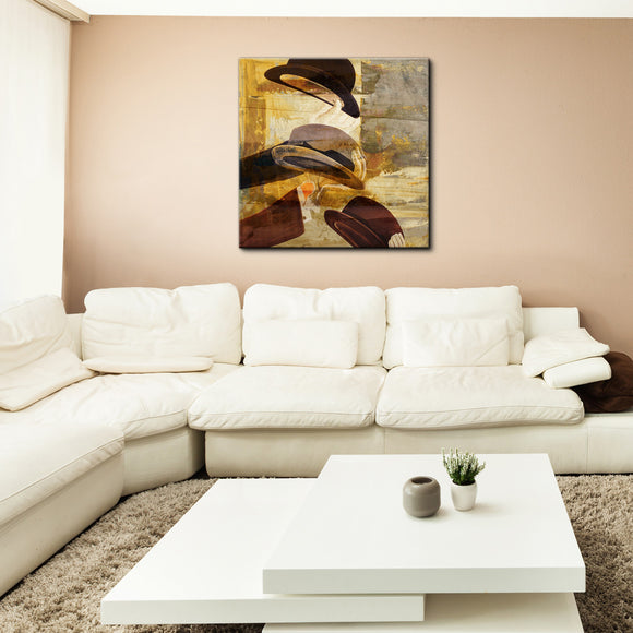 'Hats' Canvas Wall Art