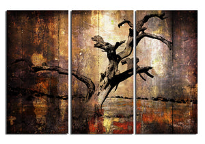 'Abstract Flower X' 3 Piece Wrapped Canvas Wall Art Set