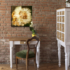'Pom Flower' Oversized Canvas Wall Art