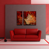 'Abstract Autumn' Canvas Wall Art (2-Piece)