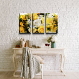 'Abstract Rose Study' Canvas Wall Art (3-Piece)