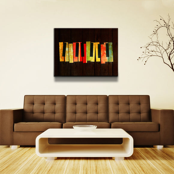 'Muzik' Oversized Canvas Wall Art