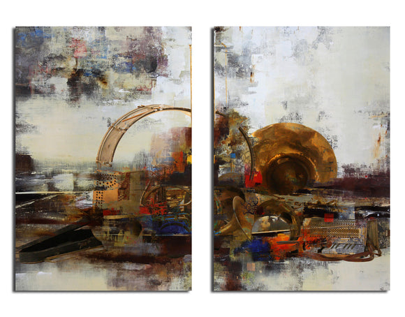 Ready2HangArt 'Muzik XIX' Oversized 2-PC Canvas Wall Art