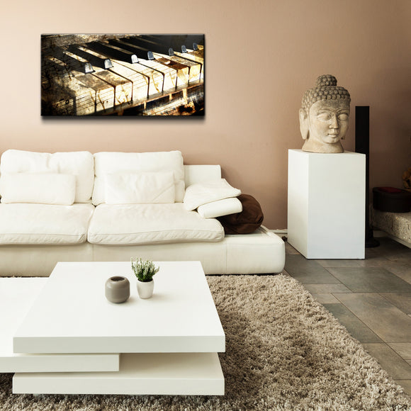 'Ivory Keys' Oversized Canvas Wall Art