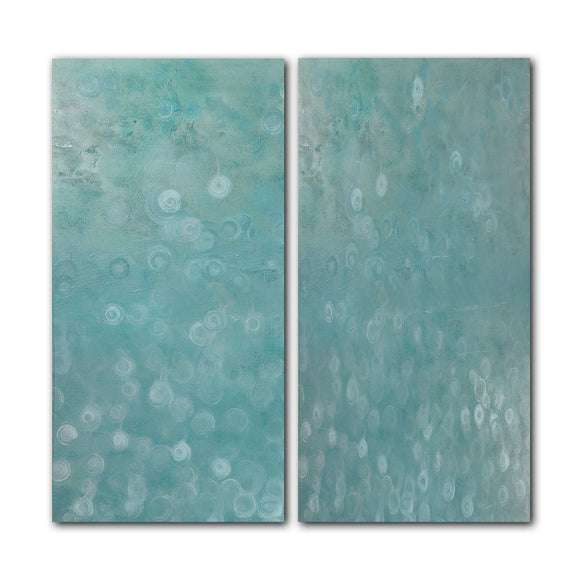 'Abstract LXXXVI' 2 Piece Wrapped Canvas Wall Art Set